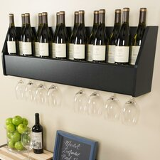 Floating 18 Bottle Wall Mounted Wine Rack