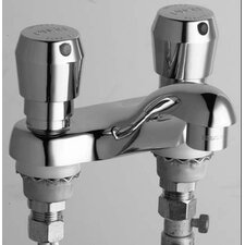Centerset Bathroom Sink Faucet with Double Pump Handles