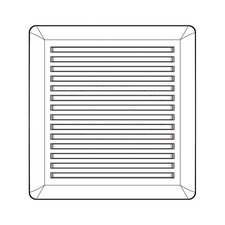 Wall Oven Grille with Housing Vent