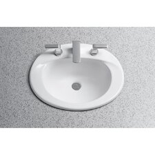 Supreme Self Rimming Bathroom Sink with SanaGloss Glazing