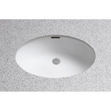 "Augusta Decorative ADA Compliant 21.63"" Rimless Undermount Bathroom Sink with SanaGloss Glazing"