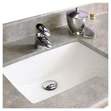 Classic Rectangular Undermount Bathroom Sink with Overflow