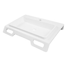 "Solid Surface 25"" Ada Compliant Wall Mounted Lavatory Sink"