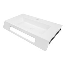 "Solid Surface 30"" Ada Compliant Wall Mounted Lavatory Sink"