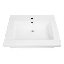 "Classically Redefined 23.5"" Wall Mounted Lavatory Sink with Overflow"