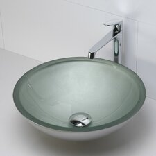 Translucence Round 19mm Glass Vessel Bathroom Sink