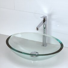Translucence Oval 19mm Glass Vessel Bathroom Sink