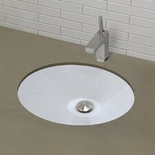 Classically Redefined Oval Undermount Bathroom Sink