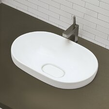 Classically Redefined Semi Recessed Oval Bathroom Sink