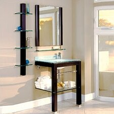 "Bathroom Furniture 28"" Single Wall-Mounted Vanity Set"