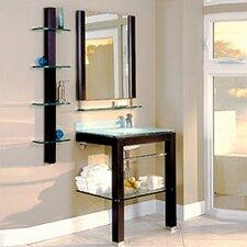 "Bathroom Furniture 28"" Single Wall-Mounted Vanity Set with Mirror"