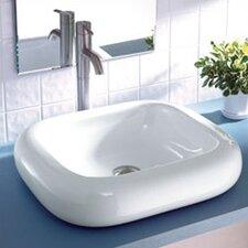 Classically Redefined Rectangular Ceramic Vessel Bathroom Sink