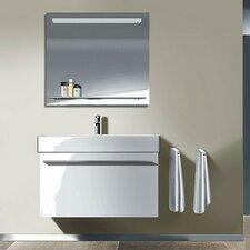 "37.38"" High Gloss and Decor Bathroom Vanity Set with Mirror"