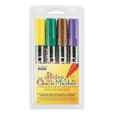 Bistro Chalk Marker,6mm Tip,Erasable,Water-based,4/PK,Ast.
