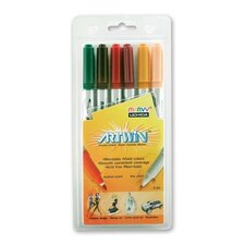 Double-ended Marker,Medium/Fine Points,6/ST,Assorted