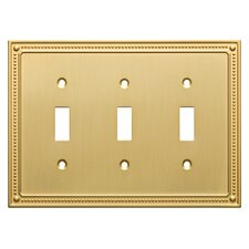 Classic Beaded Triple Switch Wall Plate