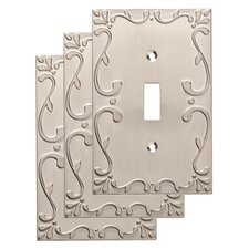Classic Lace Single Switch Wall Plate (Set of 3)