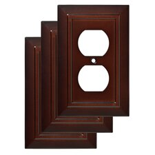 Classic Architecture 1 Duplex Wall Plate (Set of 3)