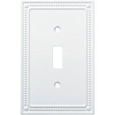Classic Beaded Single Switch Wall Plate