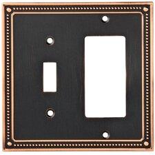Classic Beaded Single Switch Decorator Wall Plate