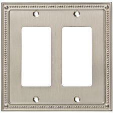 Classic Beaded Double Decorator Wall Plate