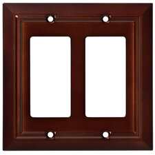 Classic Architecture Double Decorator Wall Plate