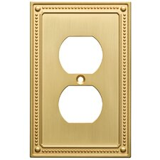 Classic Beaded 1 Gang Duplex Wall Plate