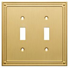 Classic Beaded Double Switch Wall Plate