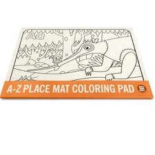 A-Z Coloring Pad Placemat