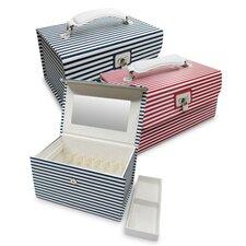 Amanda Striped Cosmetic Jewelry Box