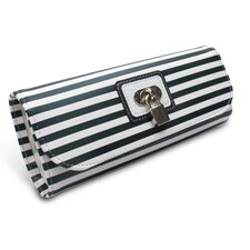 Lucy Striped Roll Jewelry Pouch