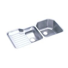 "Lustertone 41.5"" x 20.5"" Undermount Double Bowl Kitchen Sink"