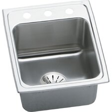 "Gourmet 17"" x 22"" Top Mount Kitchen Sink with Perfect Drain"