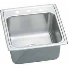 "Gourmet 19.5"" x 19"" Top Mount Kitchen Sink with U-Channel Type Mounting System"