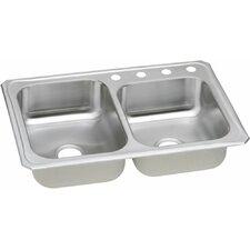 "Celebrity 33"" x 22"" Double Basin Kitchen Sink"
