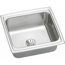 "Gourmet 19"" x 18"" Top Mount Kitchen Sink with Perfect Drain"