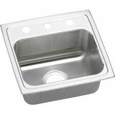 "Gourmet 17"" x 16"" Top Mount Kitchen Sink"