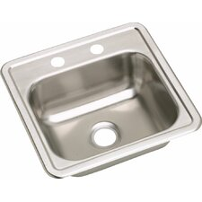 "Dayton 15"" x 15"" 2 Hole Bar Sink"