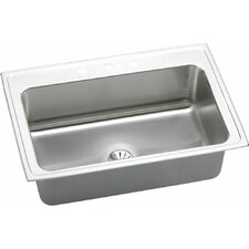 "Gourmet 33"" x 22"" Lustertone Kitchen Sink with Perfect Drain"
