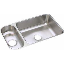 "Lustertone 32.25"" x 18.25"" Double Bowl Undermount Kitchen Sink"