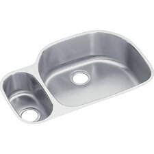 """Harmony 31.56"""" x 21.13"""" Lustertone Kitchen Sink with Bottom Grid and Drain Assembly"""