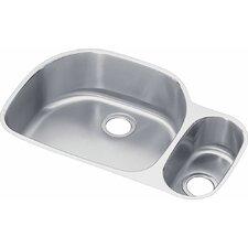 "Lustertone 31.56"" x 21.13"" Double Bowl Undermount Kitchen Sink"