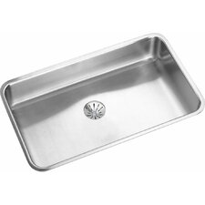 "Lustertone 30.5"" x 18.5"" Undermount Single Bowl Kitchen Sink with Perfect Drain"