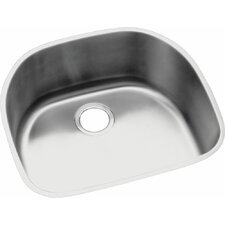 "Lustertone 23.56"" x 21.13"" Undermount Single Bowl Kitchen Sink"