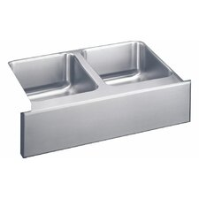 "Lustertone 33"" x 20.5"" Undermount Double Bowl Kitchen Sink"