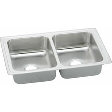 """Pacemaker 33"""" x 19.5"""" Double Bowl Kitchen Sink"""