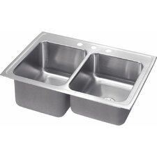 "Gourmet 33"" x 22"" Kitchen Sink with Perfect Drain"