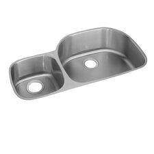 "Lustertone 36.31"" x 21.13"" Undermount Double Bowl Kitchen Sink"