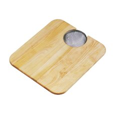 """17"""" x 14"""" Hardwood Cutting Board and Strainer"""