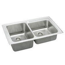 "Gourmet 37"" x 22"" Lustertone Kitchen Sink"